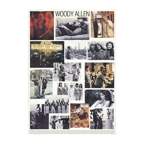 Woody Allen // Collage of Woody Allen best movies // Offset Lithograph