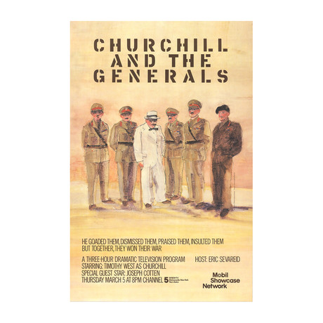 Robert Andrew Parker // Churchill and the Generals // 1981 Offset Lithograph