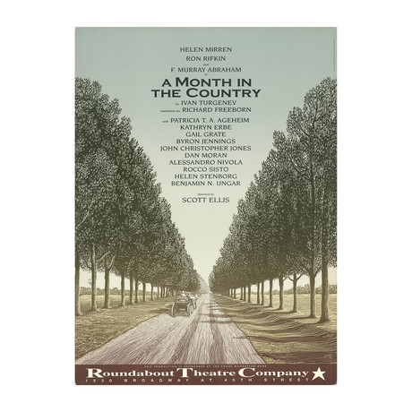 Scott McKowen // A Month in the Country // 1995 Offset Lithograph