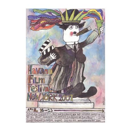 Eduardo Munoz Bachs // Havana Film Festival // 2001 Offset Lithograph