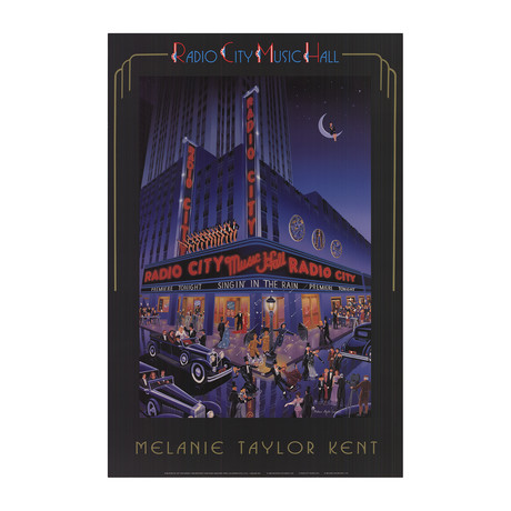 Melanie Taylor-Kent // Radio City Music Hall // 1989 Offset Lithograph