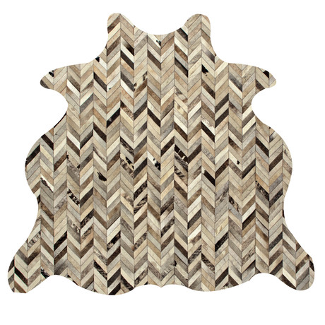 Chevron Rug // Infuse // Animal Shape (5'L x 8'W)
