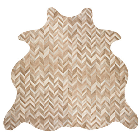 Chevron Rug // Morph // Animal Shape (5'L x 8'W)