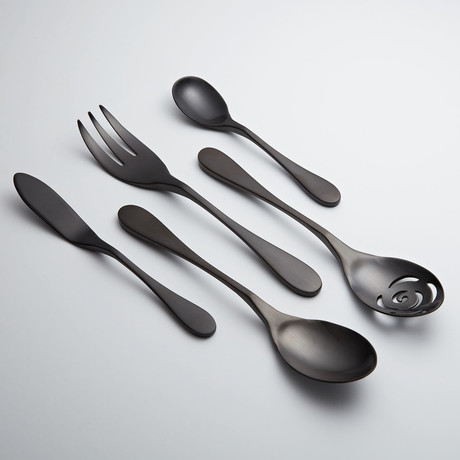 Black Titanium Serving Set // 5 Piece