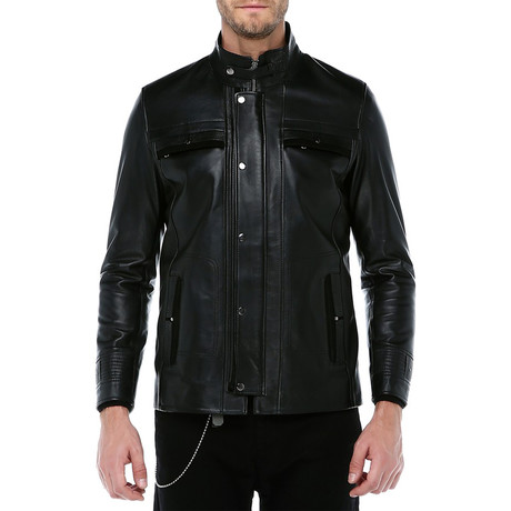 Hamburg Leather Jacket // Black (XS)