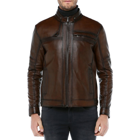 Vienna Leather Coat // Camel (XS)