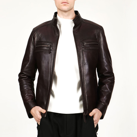 Barcelona Leather Jacket // Chestnut (XS)