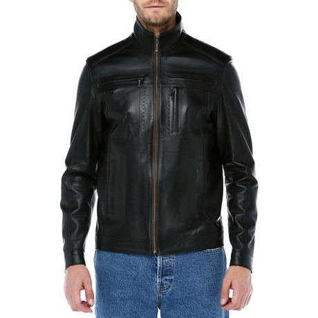 Frankfurt Leather Jacket // Black (XS)
