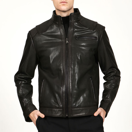 Turin Leather Jacket // Green (XS)