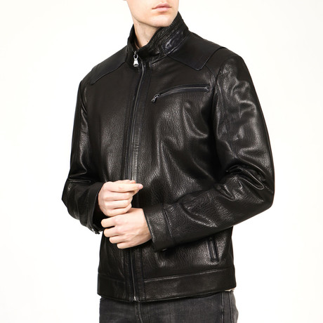 Lille Leather Jacket // Black (XS)