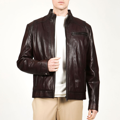 Naples Leather Jacket // Hazelnut (XS)
