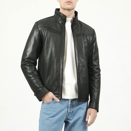 Lyon Leather Jacket // Green (XS)