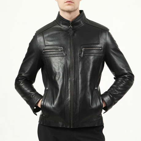 Stockholm Leather Jacket // Black (XS)