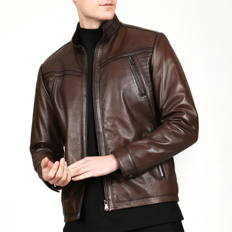 Glasgow Leather Jacket // Camel (XS)