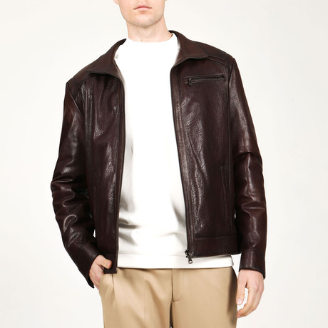 Verona Leather Jacket // Hazelnut (XS)