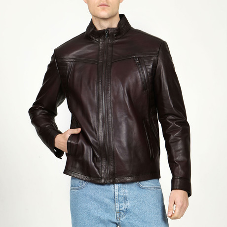 Moscow Leather Jacket // Chestnut (XS)