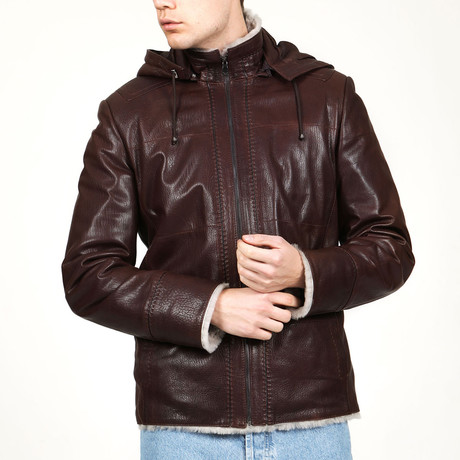 Amsterdam Leather Coat // Hazelnut (XS)