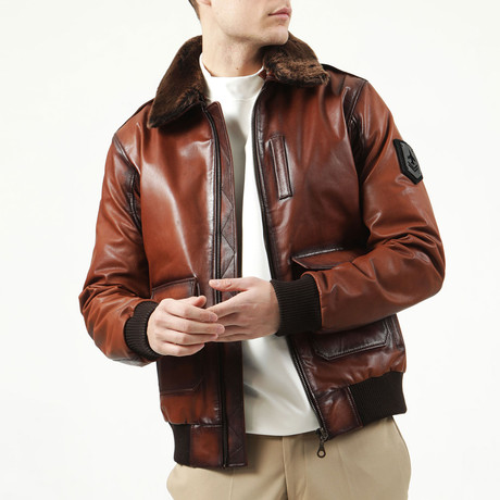 Pilot Leather Jacket // Tobacco (XS)