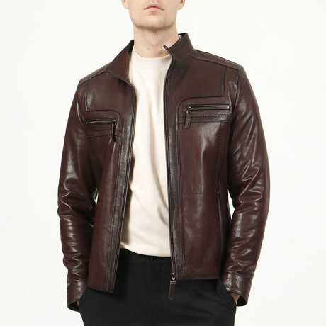 Prague Leather Jacket // Hazelnut (XS)