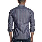 Striped Woven Shirt // Blue Denim (M)