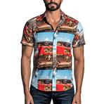 Woven Shirt // Sky Blue Print (2XL)