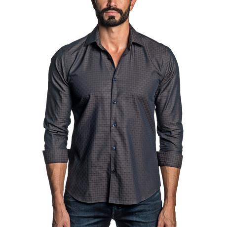 Jacquard Woven Shirt // Brown (S)