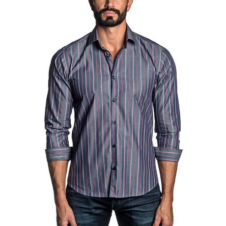 Striped Woven Shirt // Blue Denim (S)