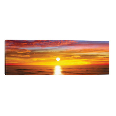 "Sunlit Horizon IV // Maggie Olsen (60""W x 20""H x 0.75""D)"