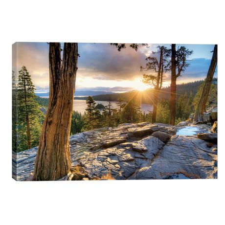 "Emerald Bay Sunrise V // Dennis Frates (40""W x 26""H x 1.5""D)"