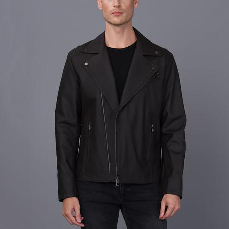 Paris Leather Jacket // Brown Tafta (S)