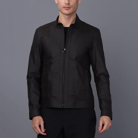 Monte Carlo Leather Jacket // Brown Tafta (S)