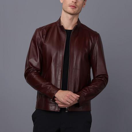 Genoa Leather Jacket // Damson (S)