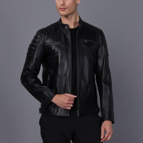 Rome Leather Jacket // Black (S)