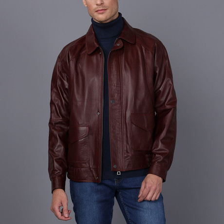 Lille Leather Jacket // Damson (S)