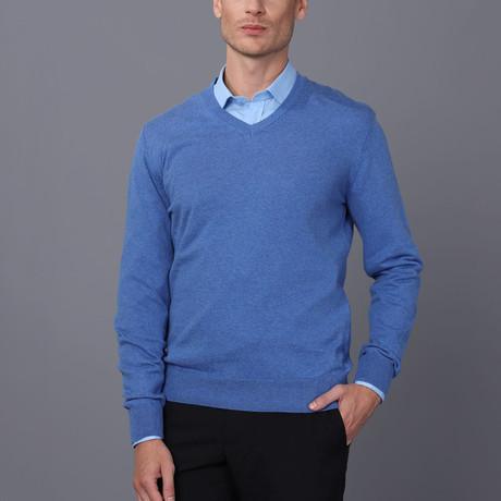 Siena Pullover Sweater // Blue Melange (S)
