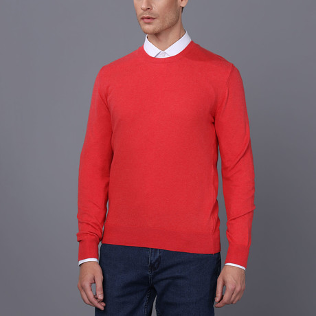 Catania Pullover Sweater // Red Melange (S)