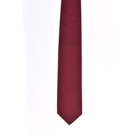 Solid Cashmere Tie // Dark Red