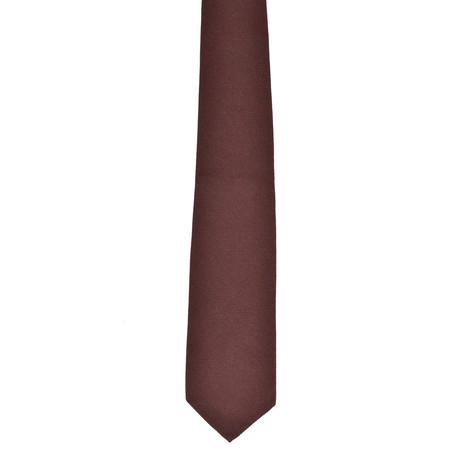 Solid Cashmere Tie // Brown
