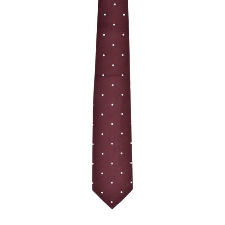 Dotted Silk Tie // Brown