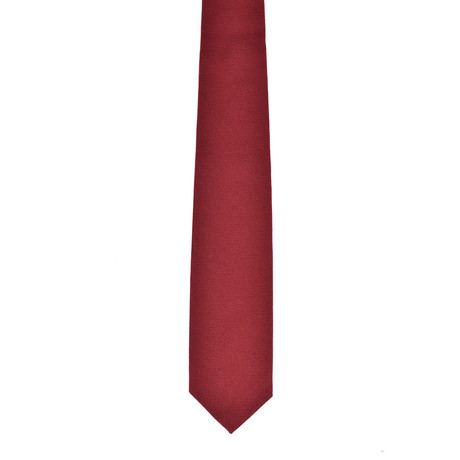 Solid Cashmere Tie // Red