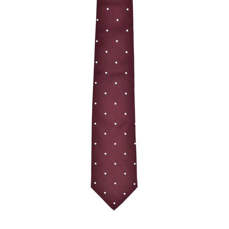 Dotted Silk Tie // Burgundy