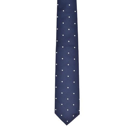 Dotted Silk Tie // Navy Blue