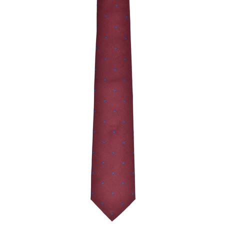 Dotted Silk Tie // Burgundy + Blue