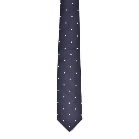 Dotted Silk Tie // Midnight Blue