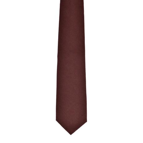 Solid Cashmere Tie // Maroon