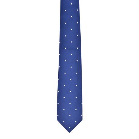 Dotted Silk Tie // Blue