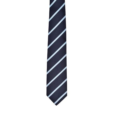 Striped Silk Tie // Blue