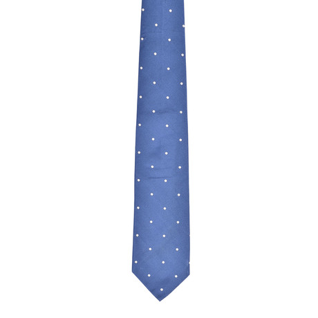 Dotted Silk Tie // Light Blue