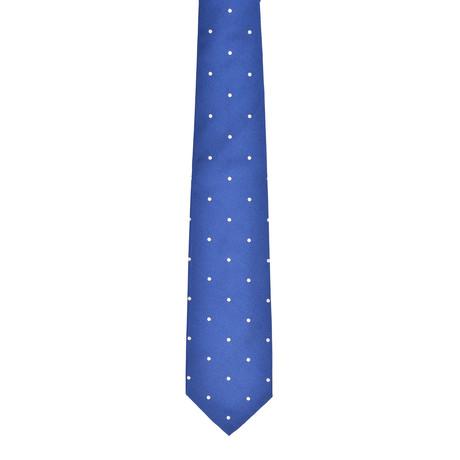 Dotted Silk Tie // Cobalt Blue