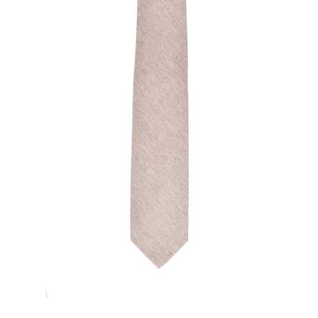 Solid Cashmere Tie // Beige